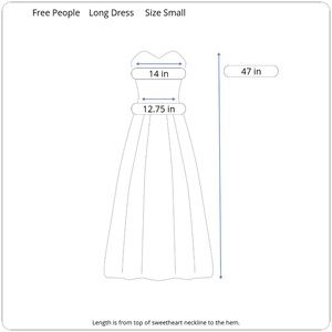 Free People Dresses - Free People Strapless Maxi Dress Small